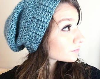 Adult slouchy beanie, crochet slouchy beanie, fall slouchy hat