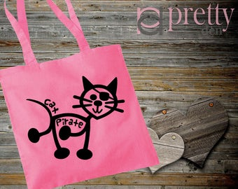 Cat Pirate Tote Bag keepsake gift