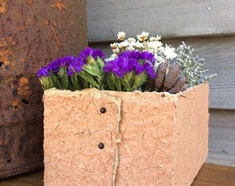 Handmade Paper Decorative Box--Handmade Paper Basket, Dried Flower Arrangement, Storage Basket, Storage Accessories, Tea and Herb Basket