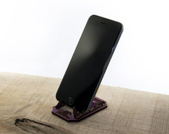 Laser cut Living Hinge Wooden Phone Stand