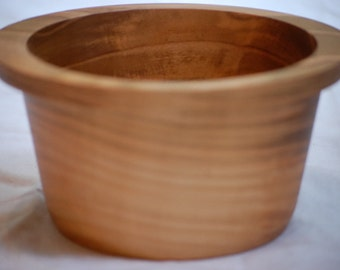 Cherry wood container, bowl, 6.5 in x 3.5 in