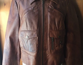 Women Cognac Leather Jacket