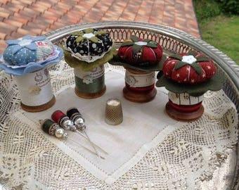 handmade pincushion spool