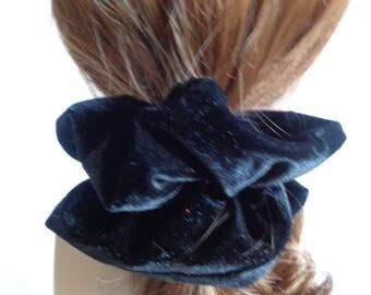 Black Velour Scrunchies   chouchou ,  Hair Accessories  , Handmade by  ScrunchiesCo .
