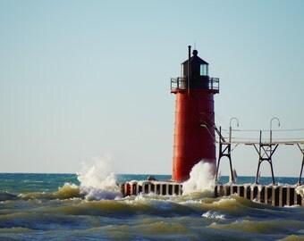 High Winds on Lake Michigan