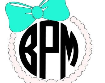 Pearl Monogram Decal