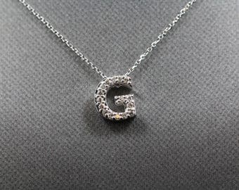 Initial Diamond Pendant