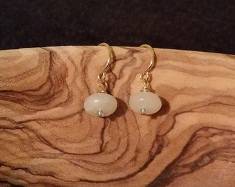 Agate Drop Earrings - Gold or Silver