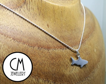 Sterling Silver Great White Shark Pendant