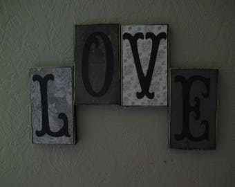 Love Sign Wall Decor Live Home Accent Hanging Sign Word Sign
