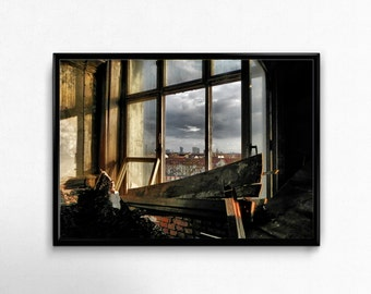 Window, Leipzig, Lost Place Photo, Photoprint, Art, Printart - Poster, Acrylic, PVC foamboard, canvas print