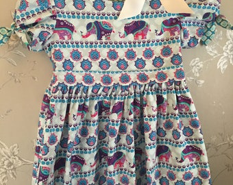 Girls Indian Summer dress* - reversible - two in one - summer dress