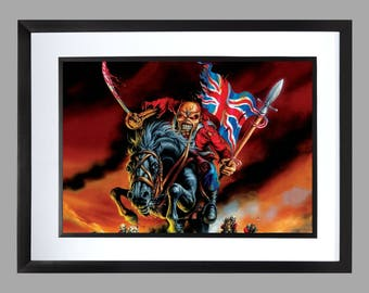 Iron Maiden A3 Wall Art . Print , Graphic . Home Art . Poster . the trooper