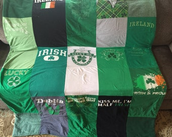 Irish t-shirt quilt