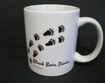 Black Bear Diner Mug, Vintage Restaurant Mug, Diner Mug