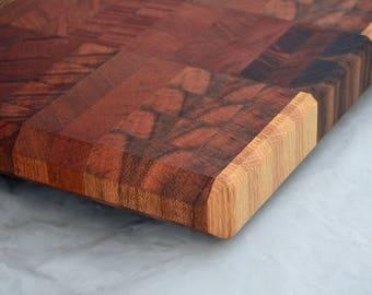 XL Mahogany Cutting Board // Custom End Grain Butcher Block Design