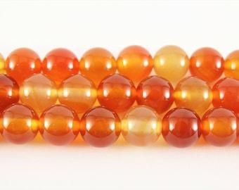 8mm carnelian beads orange carnelian 8mm round carnelian stone smooth carnelian gemstone loose carnelian round natural carnelian mala stones