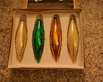 Vintage Glass Icicle Ornaments