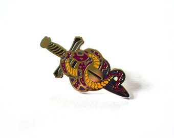 Snakes & Daggers Enamel Pin