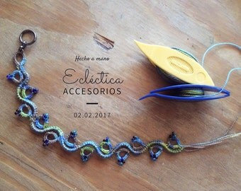"""Bracelet/Anklet """"Mawja"""", series elements. Available in different colors and sizes (long)."""