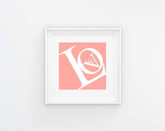 Love Pink Art Print for Baby's Room
