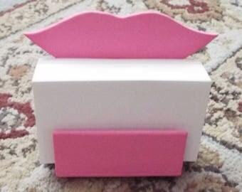 Wood Lips High Back Business Card Holder, Wood Lips Business Card Holder, Lips Business Card Holder