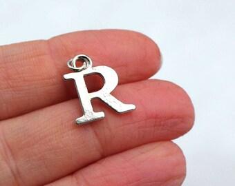 One Letter R, Alphabet Charm, R, Letter R