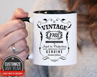 Legend Was Born in 1988, 30th birthday 30th birthday gifts for women, 1988 birthday gift, 30th birthday mug for mens, 30th