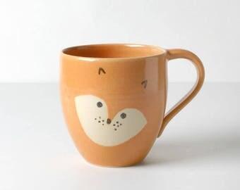 Orange kids cups Fox gifts for children