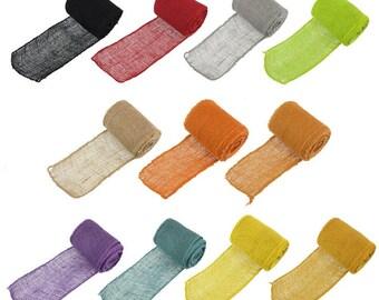 """5.5"""" Inch wide Burlap Fabric Craft Ribbon - 10 Yards - Hemp Jute"""