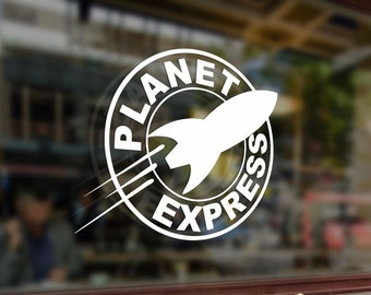 PLANET EXPRESS Symbol Emblem Vinyl Stickers Funny Decals Bumper Car Auto Computer Laptop Wall Window Glass Skateboard Snowboard Helmet