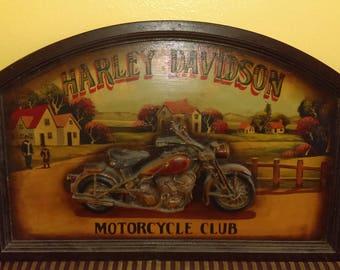Harley Davidson Motorcycle Club sign