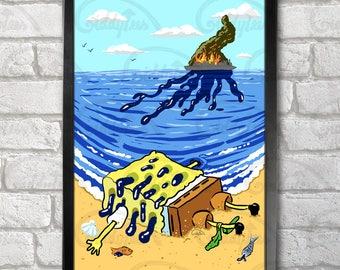 SpongeOil Poster Print A3+ 13 x 19 in - 33 x 48 cm  Buy 2 get 1 FREE