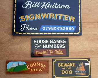 Customisable Hand Painted House Sign