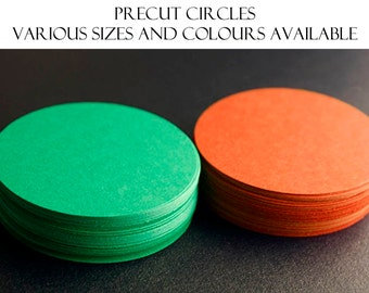 50 Pre-cut Circles - Plain Cardstock Circles - Die Cut Circles - Varying Sizes - Garland Supplies - Party Decoration - DIY #14