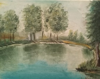 Lake Oil Painting - Original Oil Painting