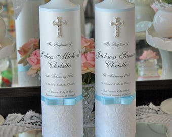 Personalised Baptism Candle, Christening Candle, Ceremony Candle