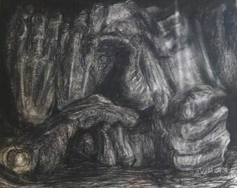 Grieving Hands