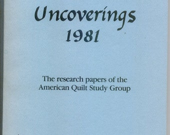 Uncoverings 1981 from AQSG : original 1982 printing (not a reprint)