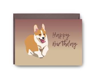 Happy Birthday Corgi Card