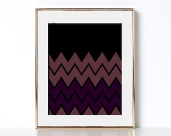 Cool Print Digital Download Printable Art Lightning Bolts Vintage Design Throwback Prints Pop Art Contrast Art Beautiful Prints Fun Design