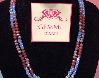 Double color necklace