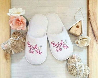 Custom wedding slippers / Personalized Wedding Slippers