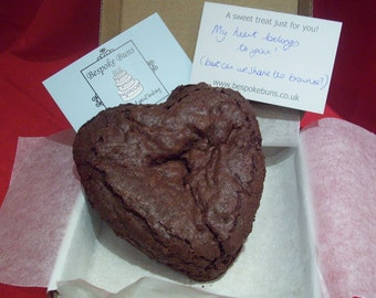Valentines Heart-shaped Chocolate Brownie - Gluten, Wheat & Dairy Free