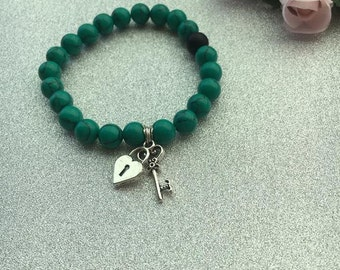 Marble Green Hand Made Bracelet