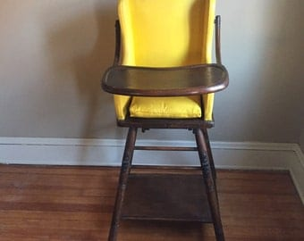 Mustard Yellow Vintage High Chair