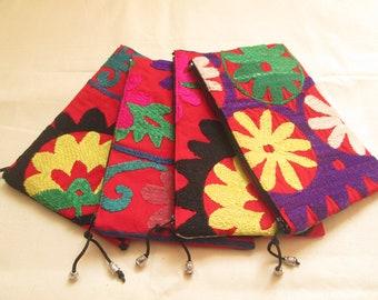 Uzbek hand embroidery wallet,Handmade wallet,Suzani wallet