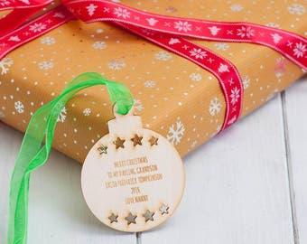 Personalised Birchwood Christmas Bauble