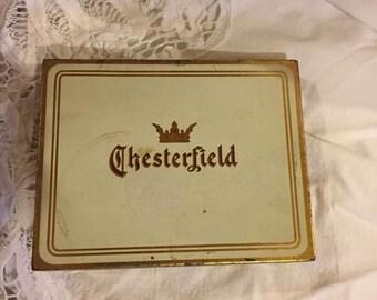Vintage Chesterfield Cigarette tin - mid century