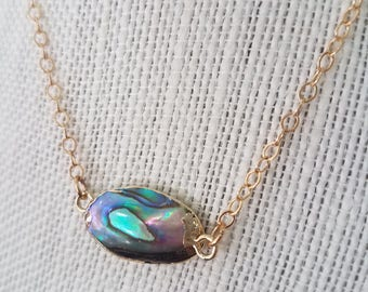 Delicate Abalone Necklace
